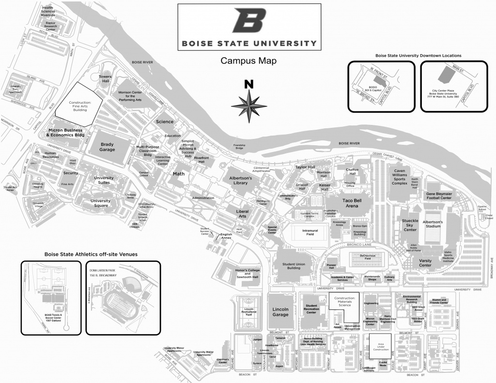 Annual Conference Schedule And Additional Information - Idaho - Boise State University Printable Campus Map