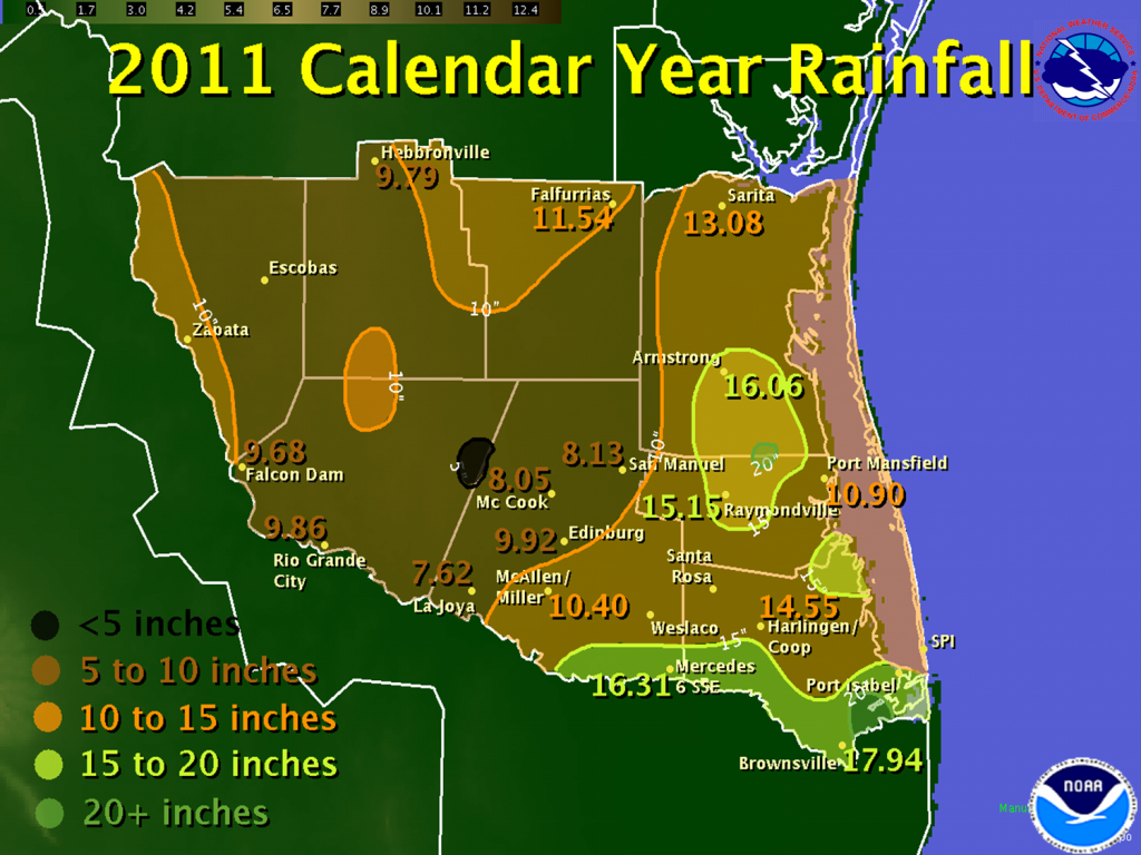 Annual Weather Capsule For 2011 In Deep South Texas And The Rio - King Ranch Texas Map