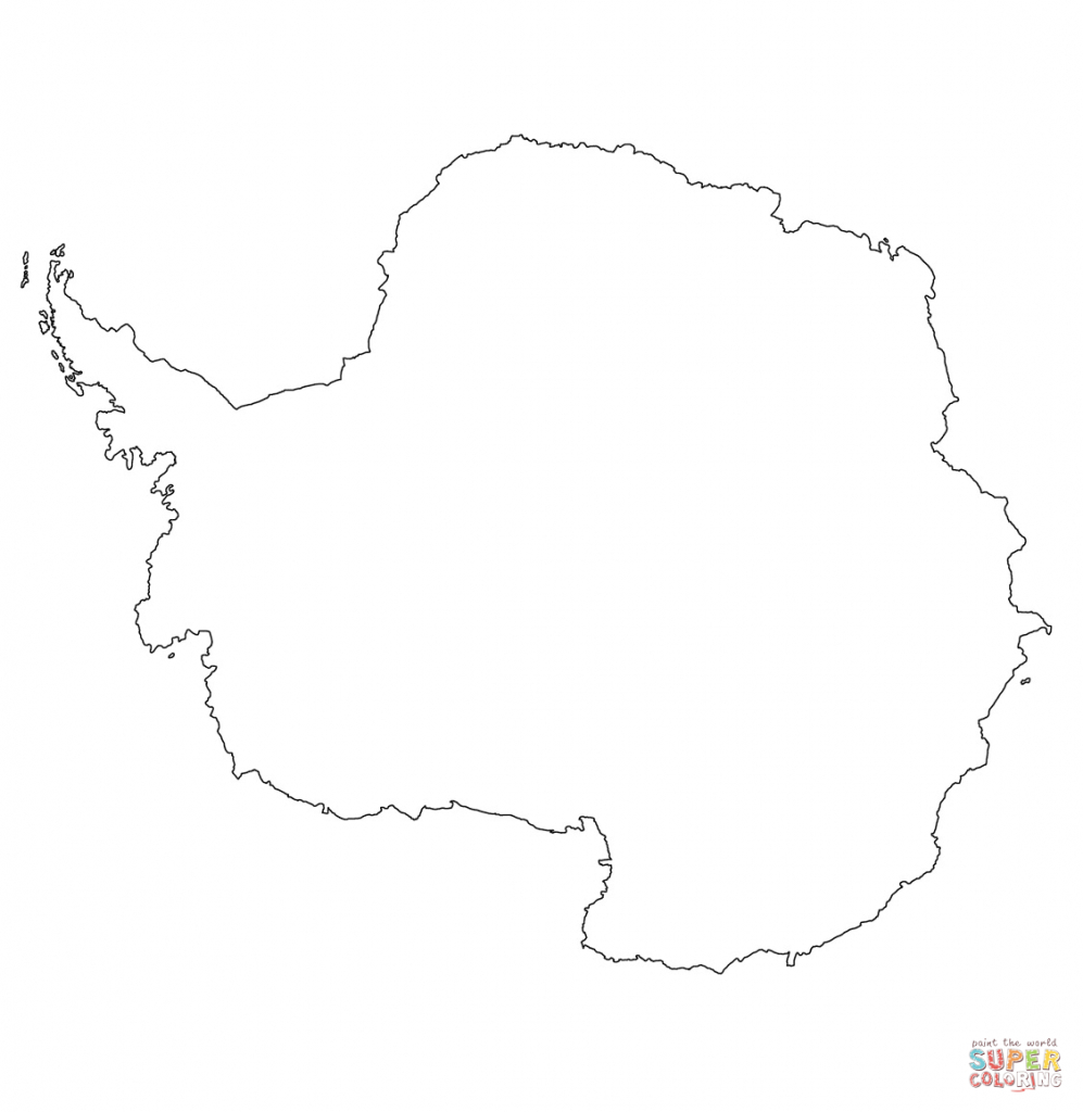 Antarctica Outline Map Coloring Page | Free Printable Coloring Pages - Antarctica Outline Map Printable