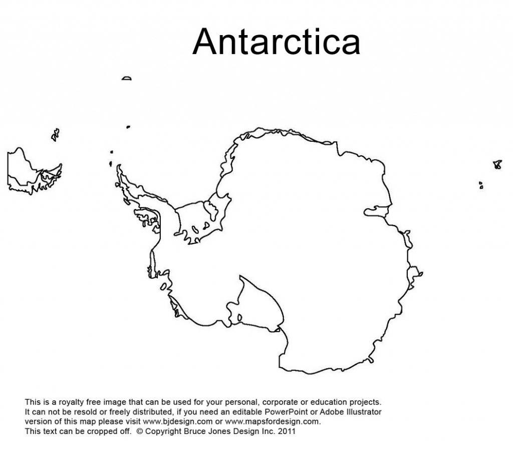 Antarctica, South Pole Outline Printable Map, Royalty Free, World - Antarctica Outline Map Printable