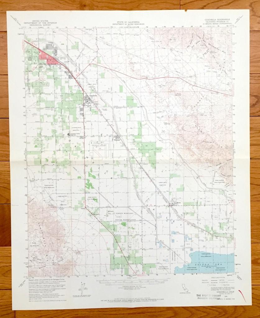 Antique Coachella California 1956 Us Geological Survey   Etsy - Thermal California Map