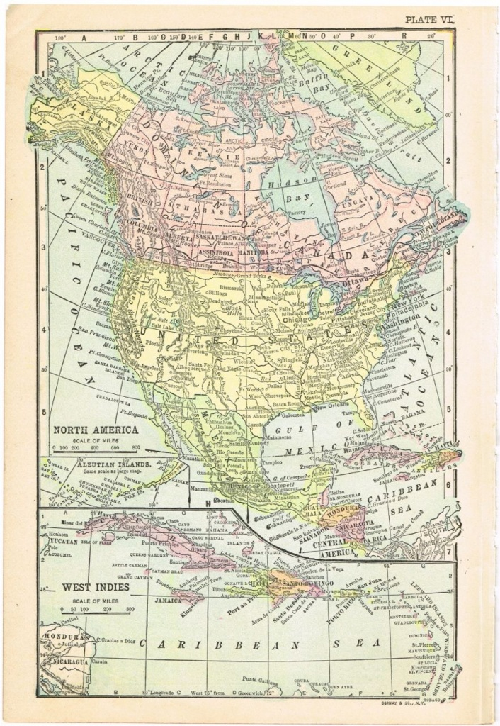 Antique Graphics Wednesday – 1900's Maps Of The World & All 50 - Printable Antique Maps