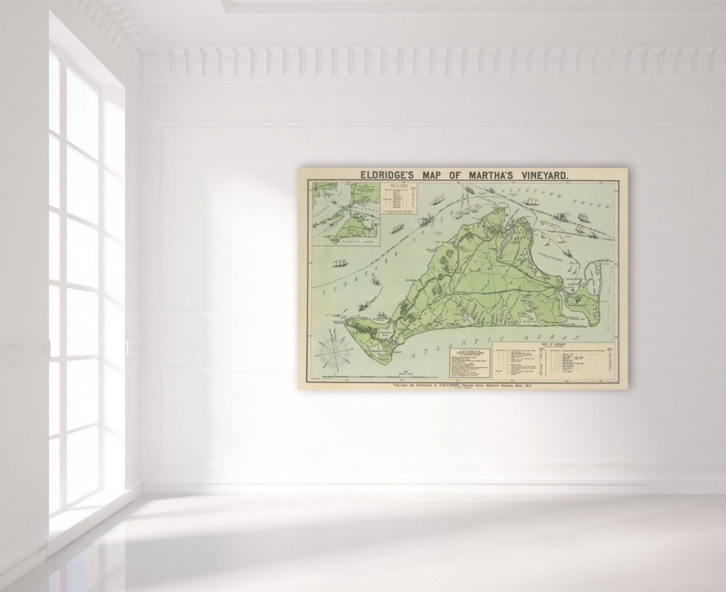 Antique Print Of A Martha's Vineyard Map On Your Choice Of Photo - Martha's Vineyard Map Printable