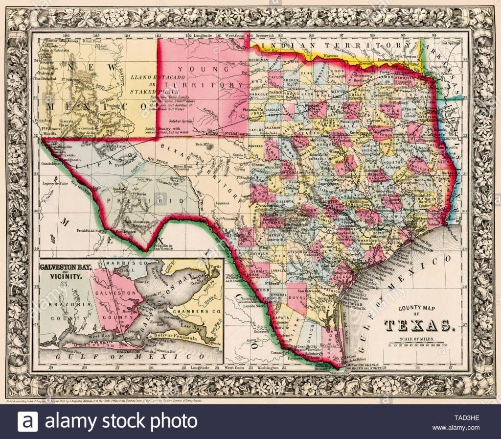 Antique Texas Map Stock Photos & Antique Texas Map Stock Images - Alamy - Antique Texas Map Reproductions