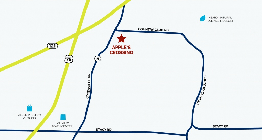 Apple's Crossing In Fairview, Txcb Jeni Homes - Fairview Texas Map