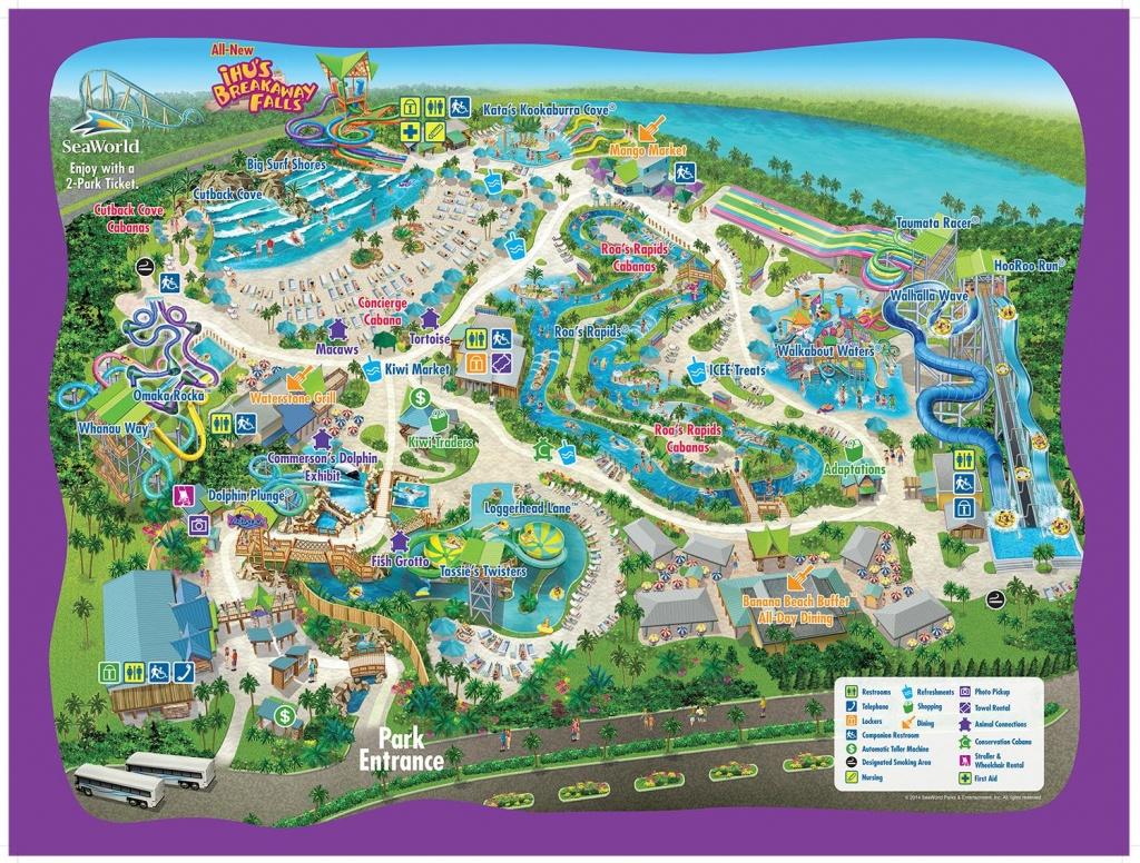 Aquatica Orlando Map - Map Of Aquatica Orlando (Florida - Usa) - Aquatica Florida Map