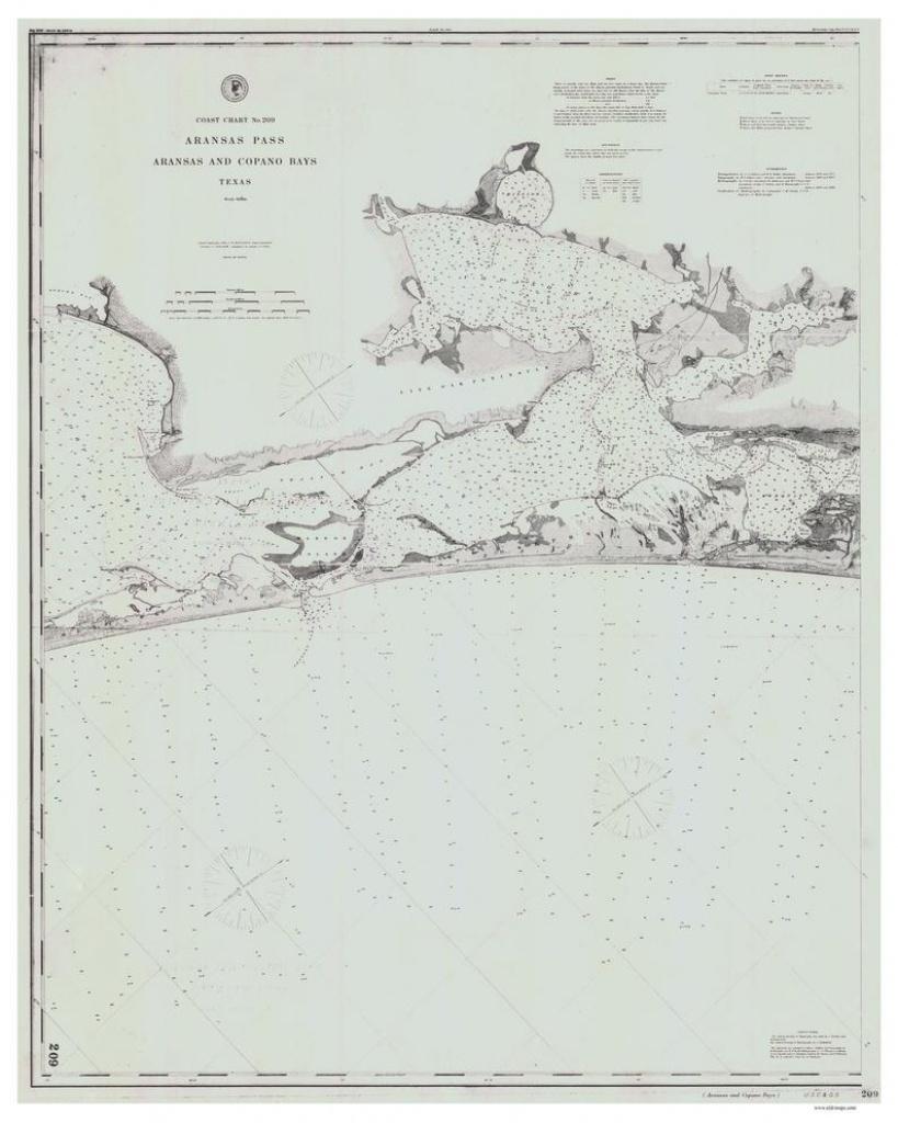 Aransas Pass Aransas And Copano Bays 1884 Nautical Old Map | Etsy - Map Of Aransas Pass Texas