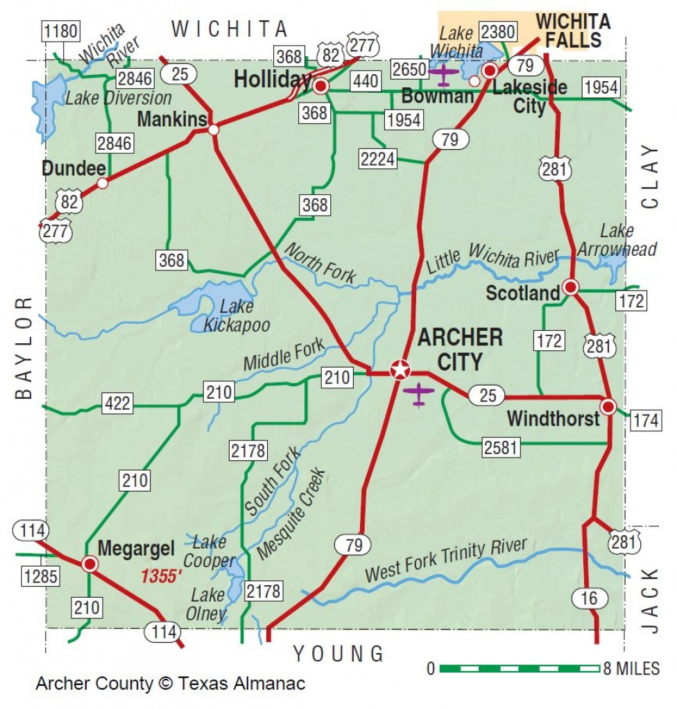 Archer County   The Handbook Of Texas Online  Texas State Historical - Winnie Texas Map