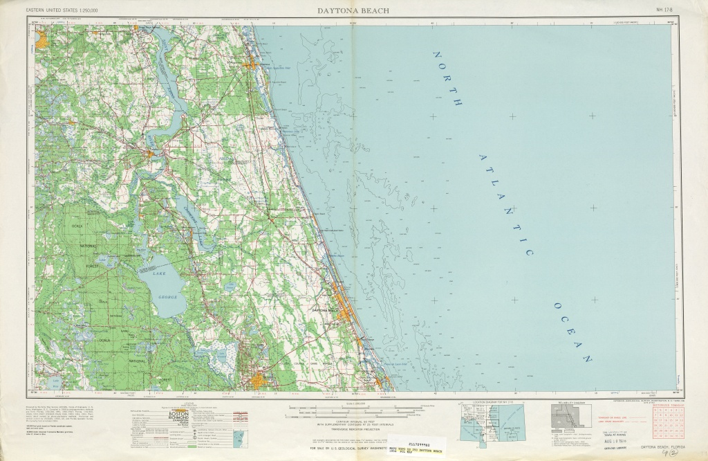 Area Around Daytona Beach In The United States - Full Size | Gifex - Map Of Daytona Beach Florida Area
