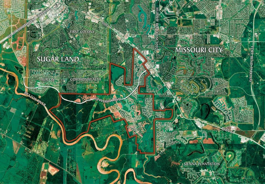 Area Map | Riverstone Near Sugar Land, Tx - Sugar Land Texas Map