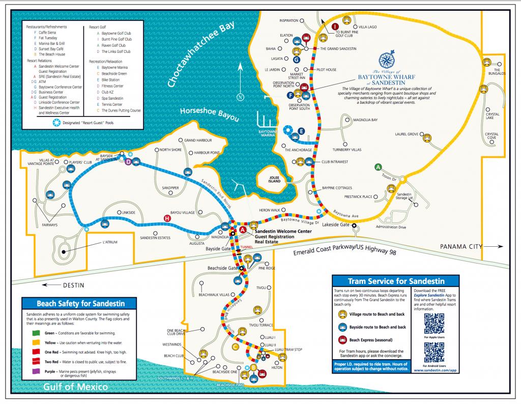 Area Maps | Sandestin Beach Maps | Hilton Sandestin Beach Golf - Where Is Destin Florida Located On The Florida Map