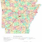 Arkansas Printable Map   Arkansas Road Map Printable