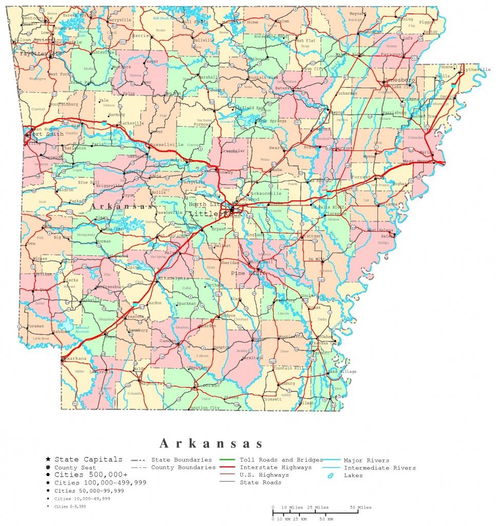 Arkansas Printable Map - Arkansas Road Map Printable