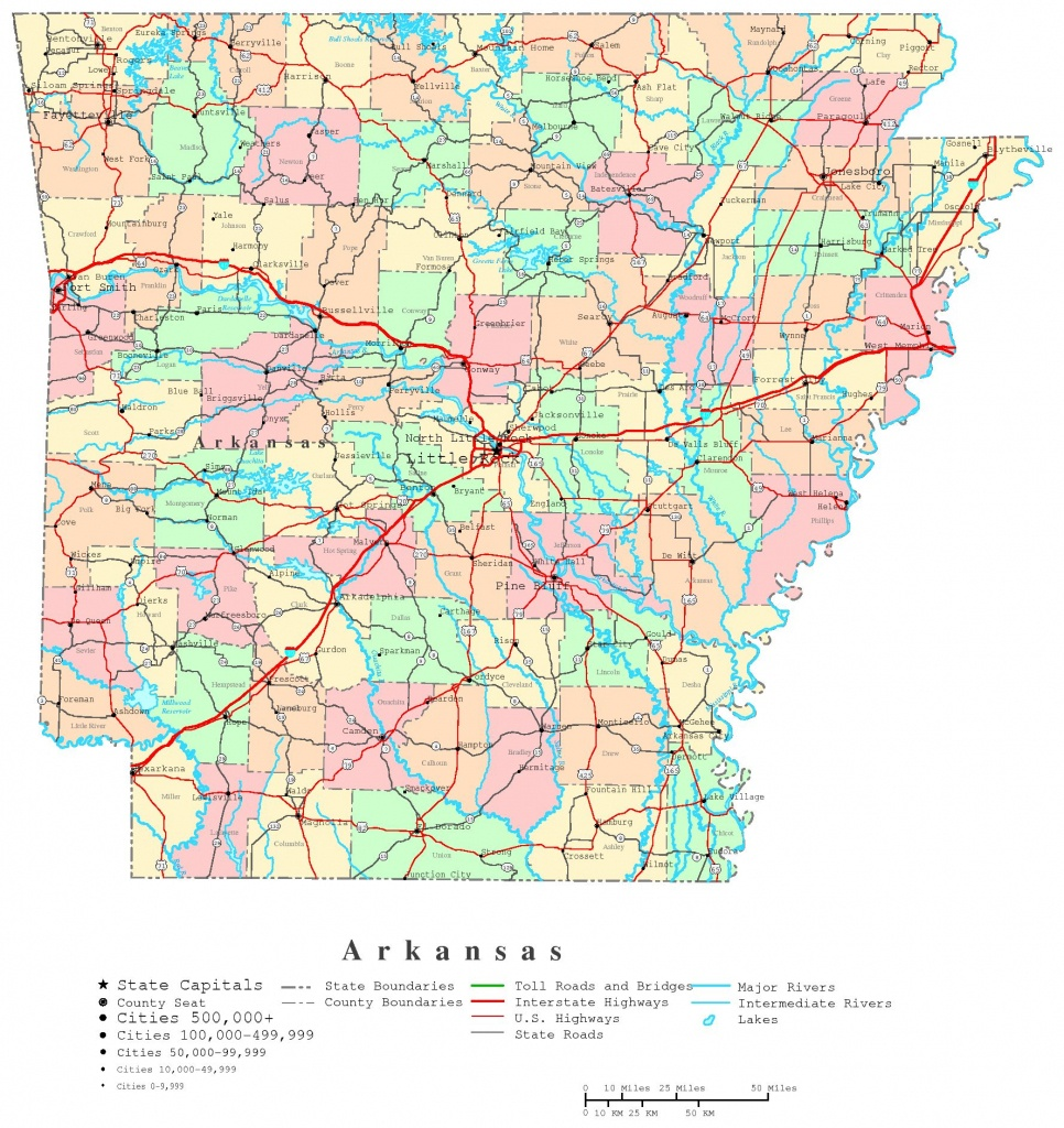 Arkansas Printable Map - Printable State Maps With Counties