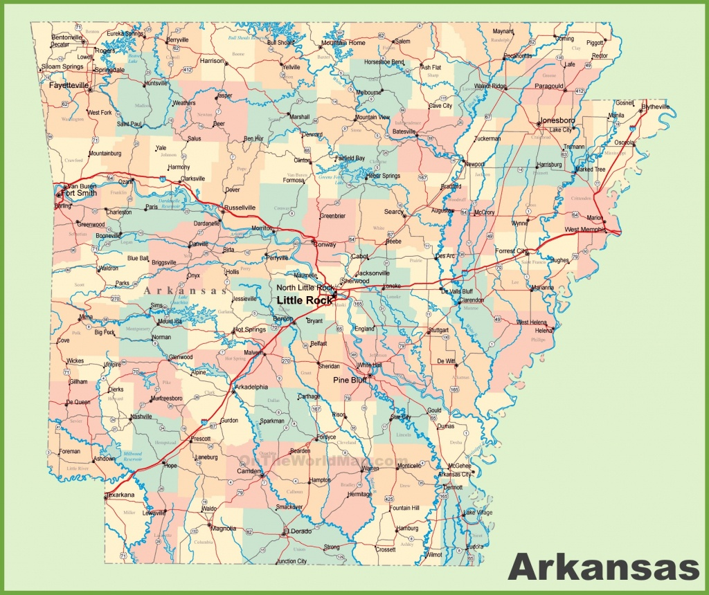 Arkansas Road Map - Arkansas Road Map Printable