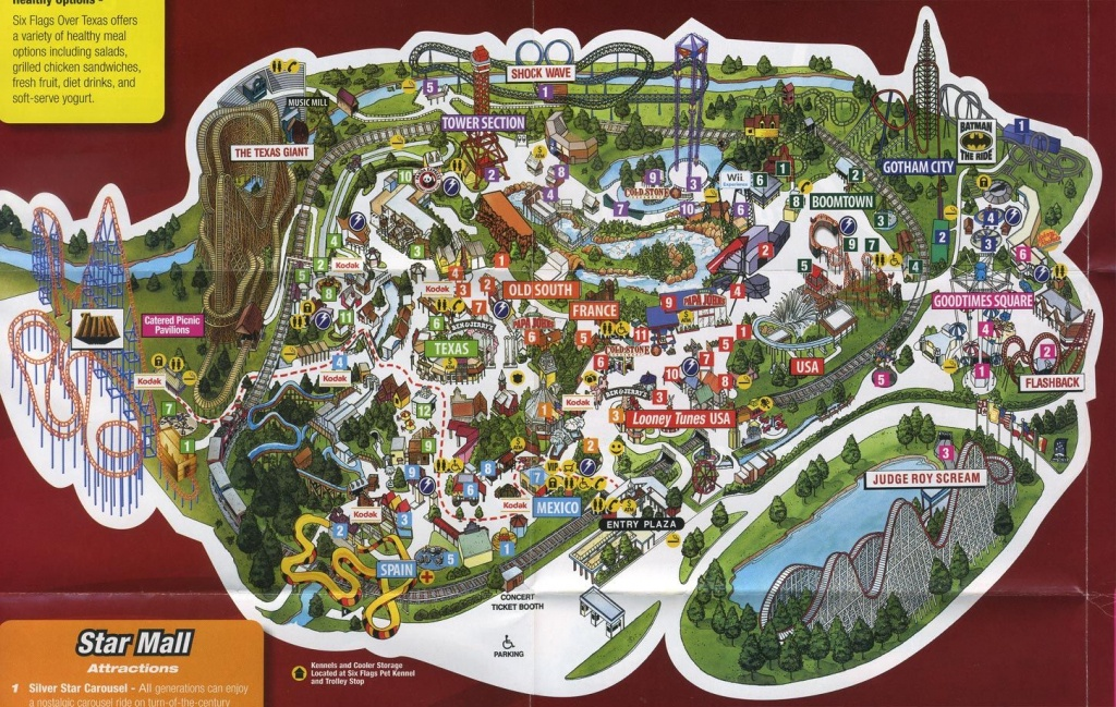 Arlington Tx - Six Flags Over Tx | Texas | Texas Parks, Six Flags, Texas - Printable Six Flags Over Georgia Map