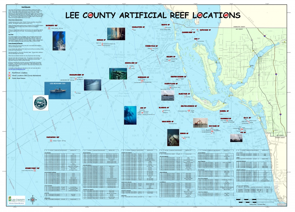 Artificial Reefs - Florida Fishing Reef Map