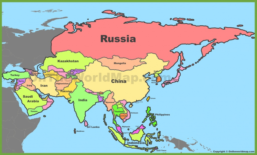 Asia Political Map - Asia Political Map Printable