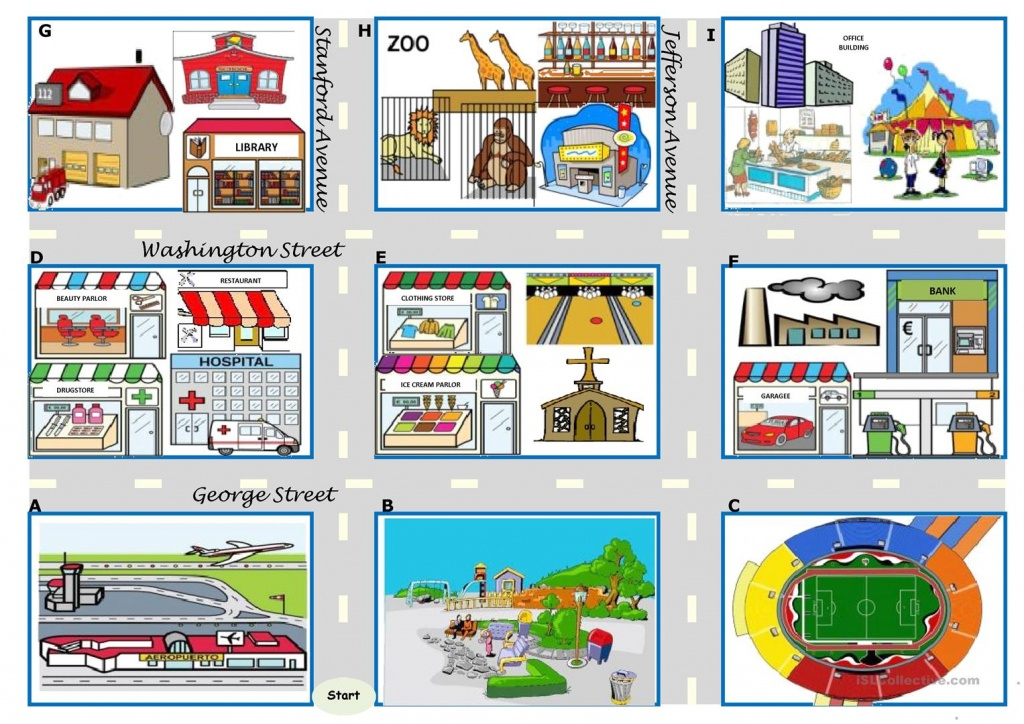 Asking For Directions – There Be, Prepositions, Directions [Map - Free Printable Direction Maps