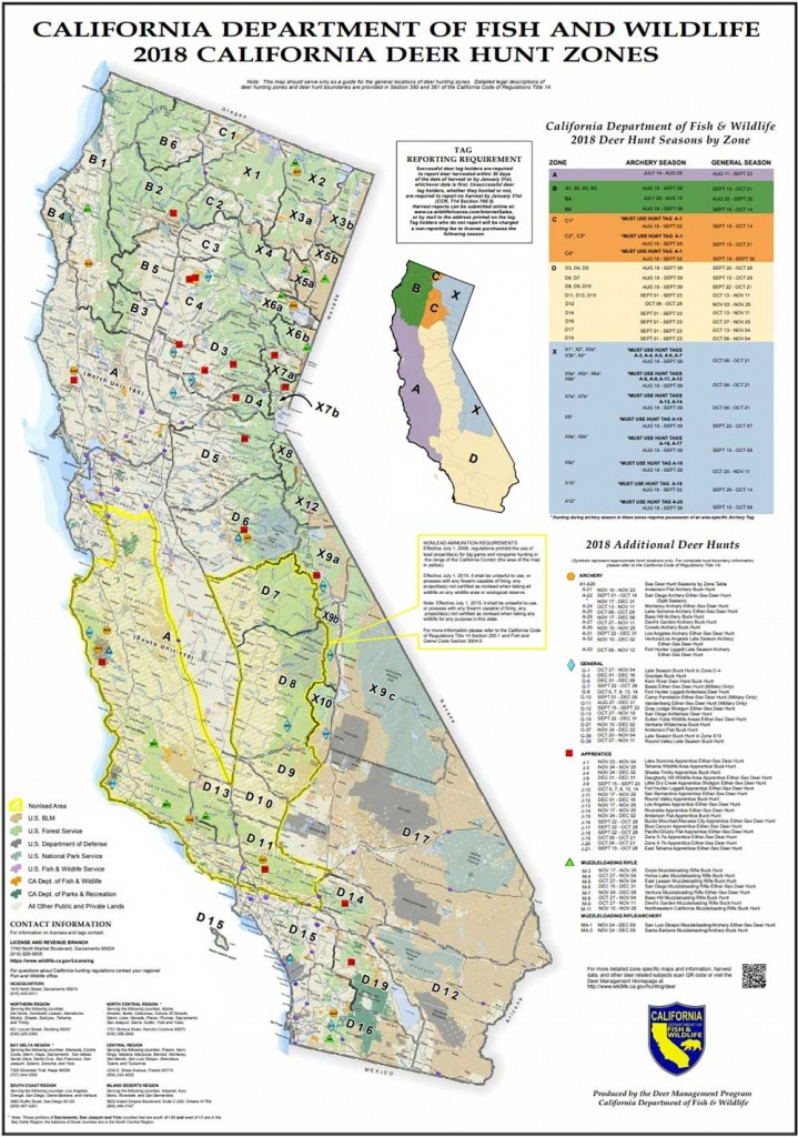 Attn California Hunters: Phase 2 Of Non-Lead Ammunition Requirements - Deer Hunting Zones In California Maps