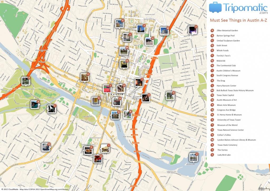 Austin Printable Tourist Map | Free Tourist Maps ✈ | Tourist Map - Printable Map Of Austin Tx