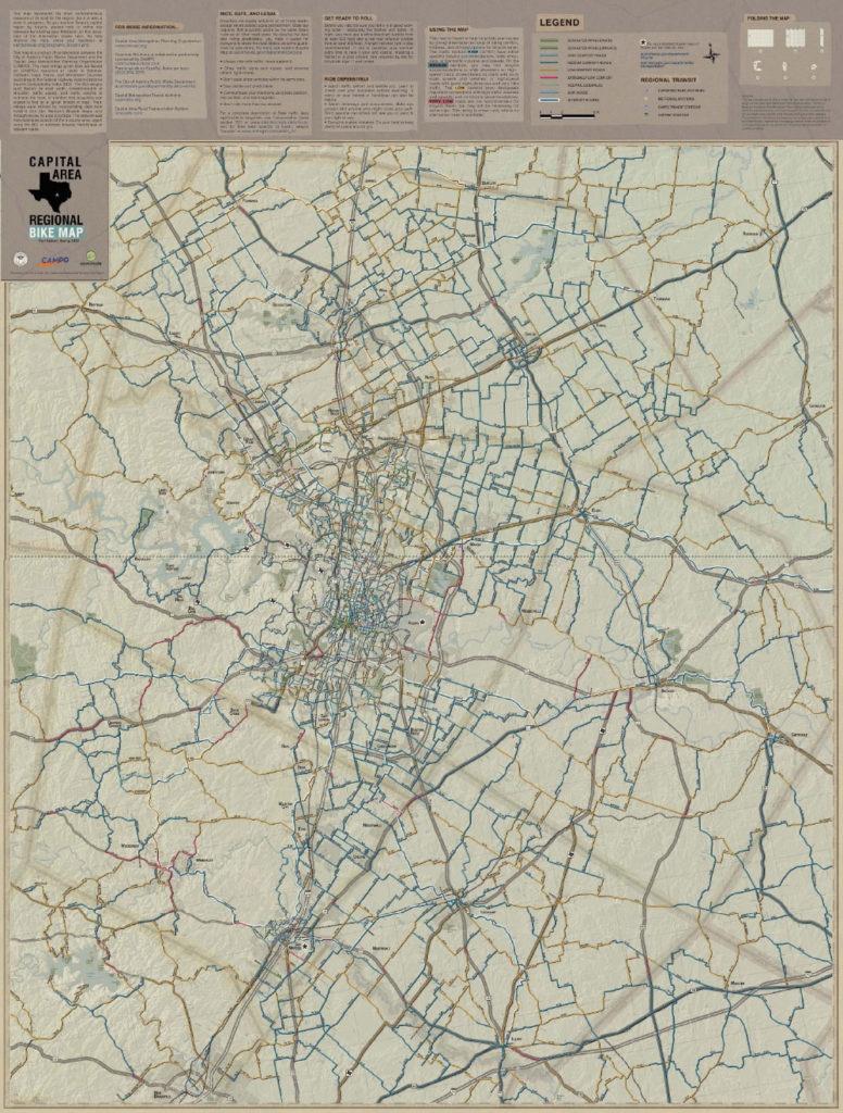 Austin Regional Bike Map Now Available - Biketexas - Austin Texas Bike Map