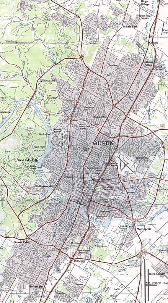 Austin, Texas Maps - Perry-Castañeda Map Collection - Ut Library Online - Austin Texas Map