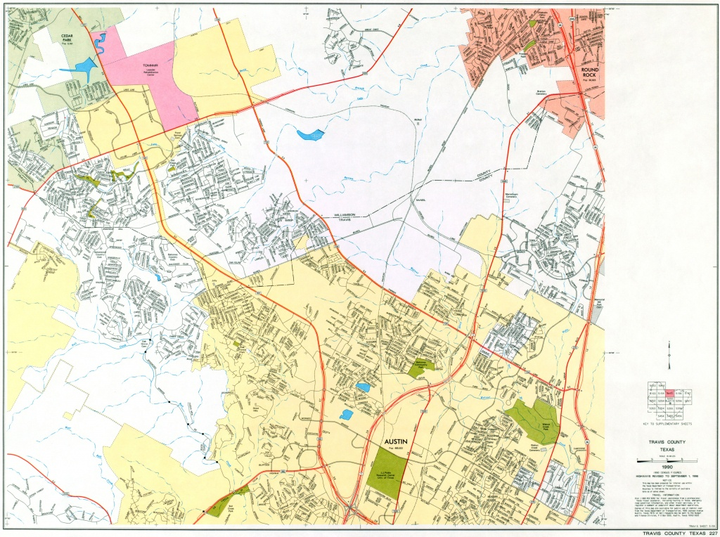 Austin, Texas Maps - Perry-Castañeda Map Collection - Ut Library Online - Travis County Texas Map