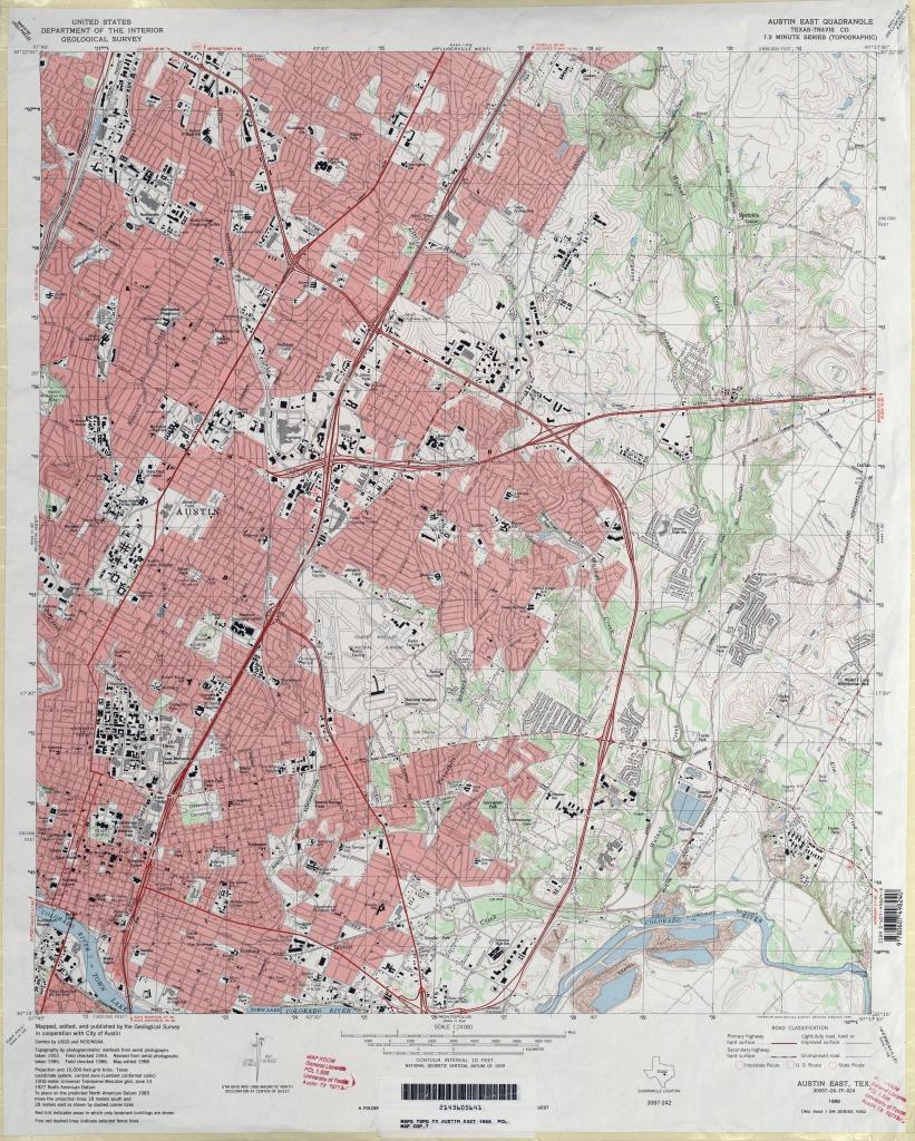 Austin, Texas Topographic Maps - Perry-Castañeda Map Collection - Ut - Austin Texas Elevation Map