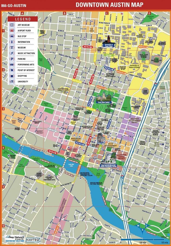 Austin Tourist Attractions Map Stunning Downtown Austin Map - Austin Tx Map Of Texas