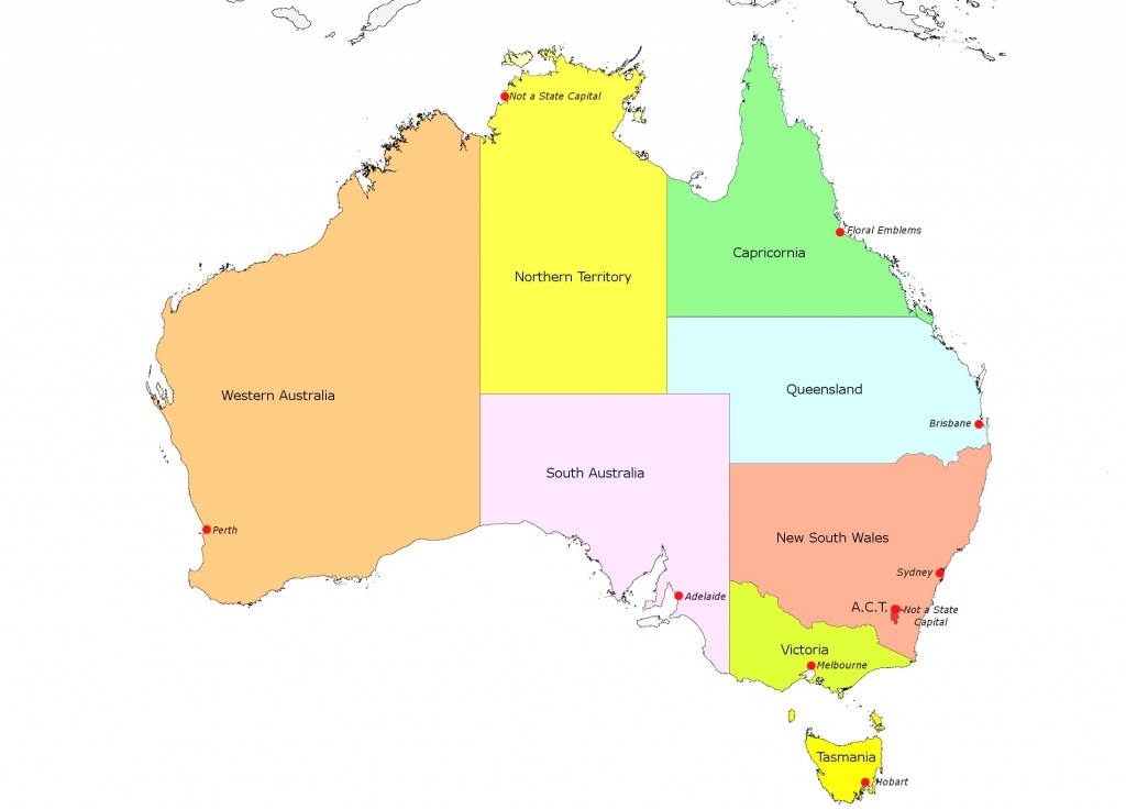 Australia Map With States And Capital Cities Justeastofwest Me For - Printable Map Of Australia With States And Capital Cities