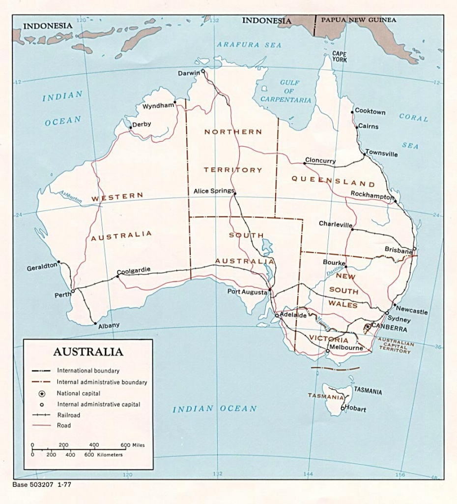 Australia Maps | Printable Maps Of Australia For Download - Printable Map Of Australia With States And Capital Cities