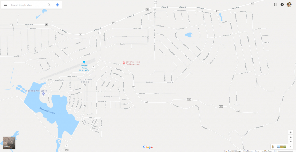 Available California Pines Properties: Where Is California Pines? - California Pines Parcel Map