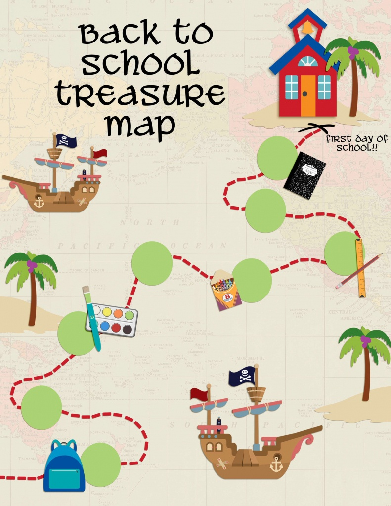 Back To School Treasure Map - Your Everyday Family - Make Your Own Treasure Map Printable