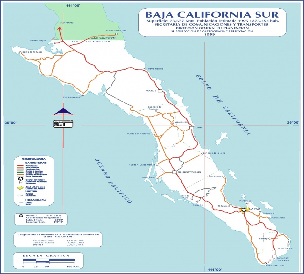 Baja California Map - Baja California • Mappery - Baja California Norte Map