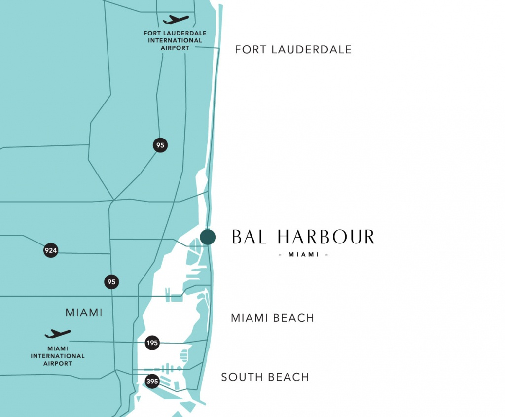 Bal Harbour Map And Guide To Hotels Near South Beach, Miami - South Beach Florida Map