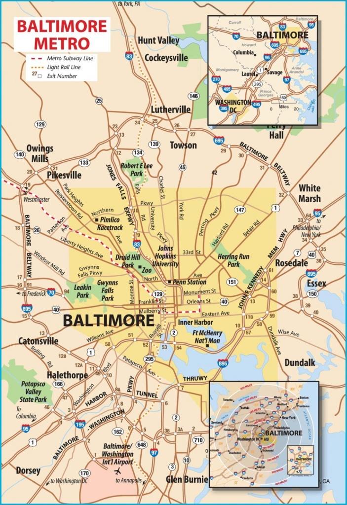 Printable Map Of Baltimore