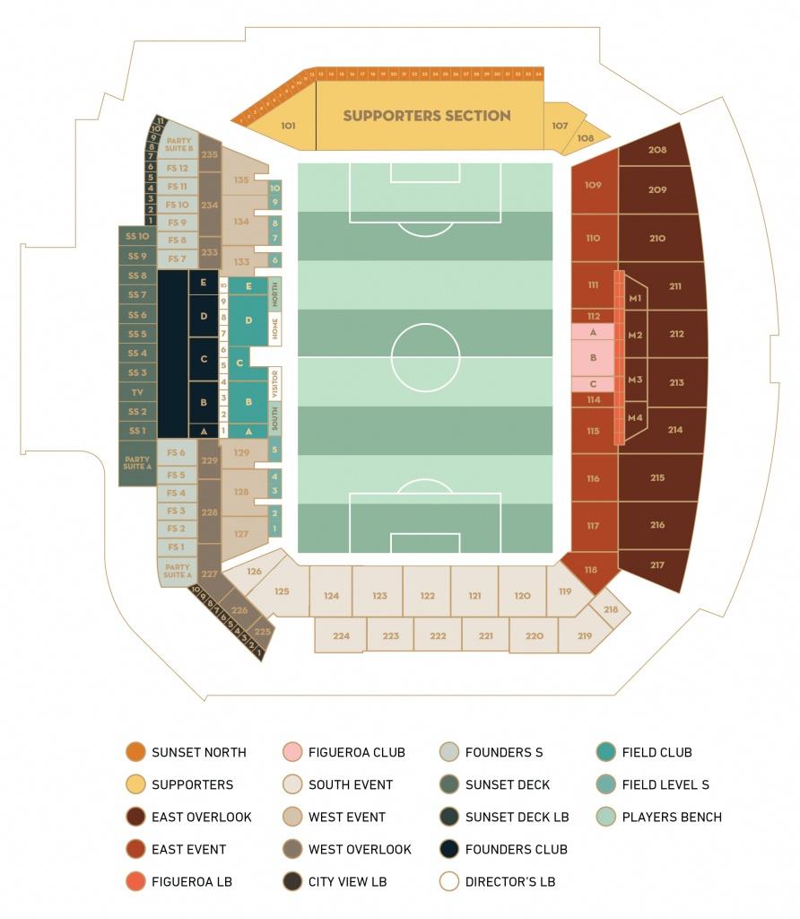 Banc Of California Stadium - Banc Of California Stadium Map