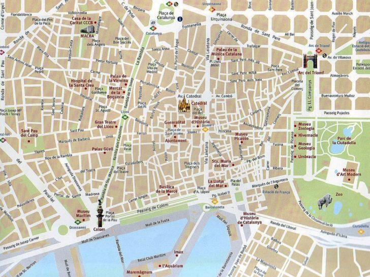 Printable Map Of Barcelona