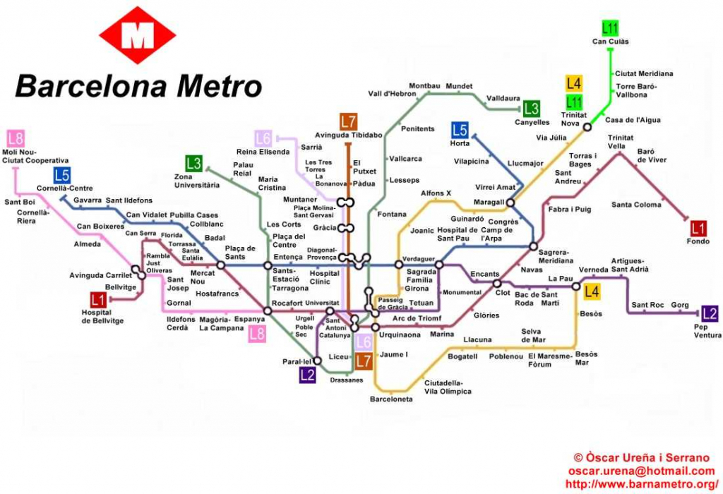 Barcelona Metro Map (91+ Images In Collection) Page 1 - Barcelona Metro Map Printable