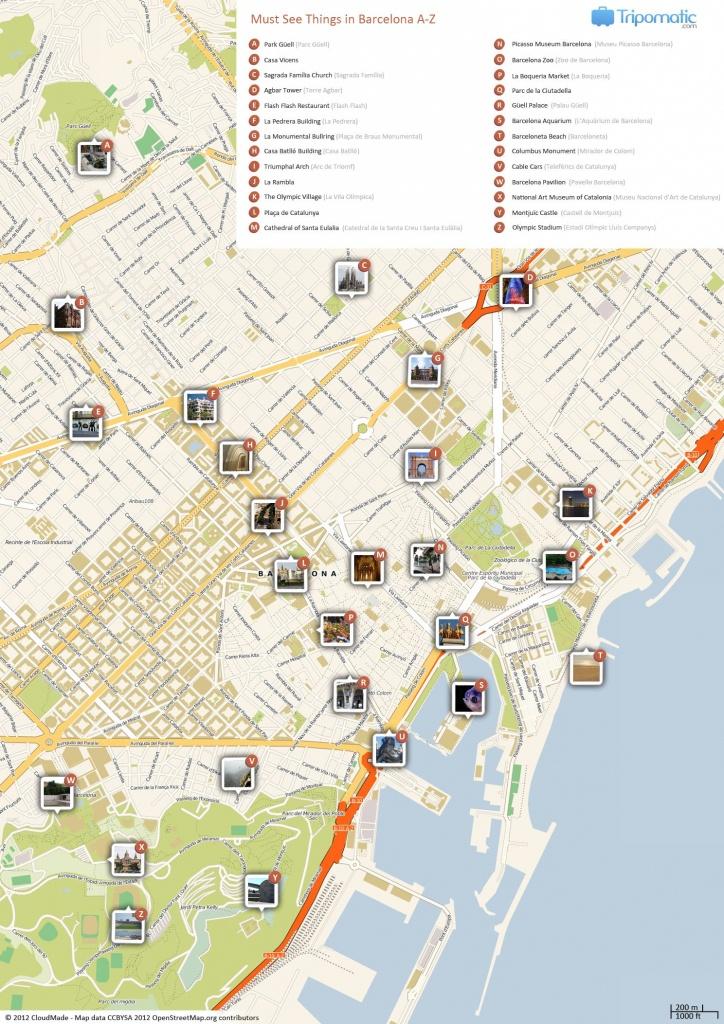 Barcelona Printable Tourist Map In 2019 | Barcelona | Barcelona - City Map Of Barcelona Printable