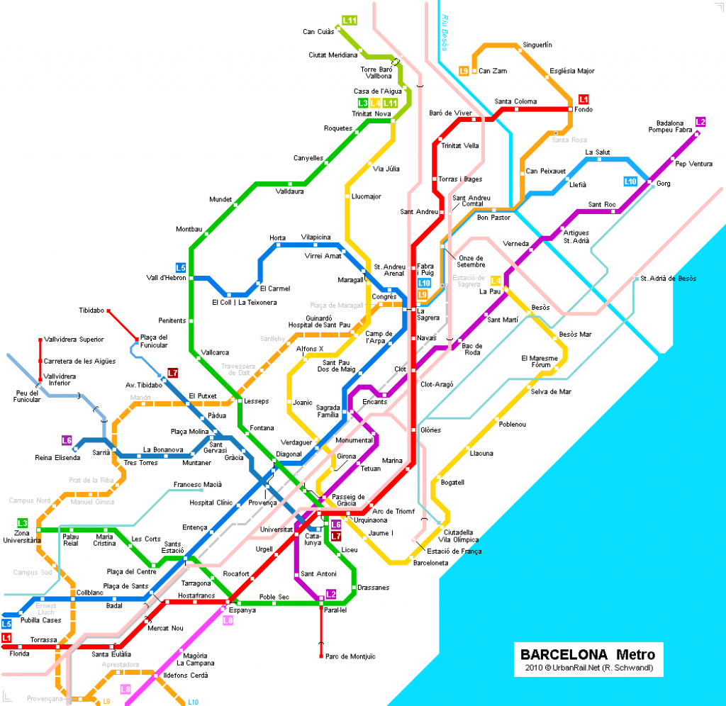 graphic relating to Printable Map of Barcelona known as Barcelona Metro Map Printable Printable Maps