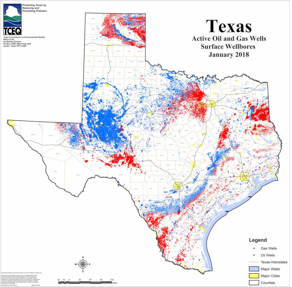 Barnett Shale Maps And Charts - Tceq - Www.tceq.texas.gov - Texas Gas Pipeline Map