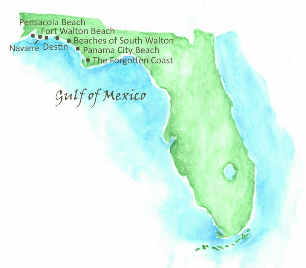 Beaches Of Northwest Florida Map | Southern Vacation Rentals - Panama City And Destin Florida Map