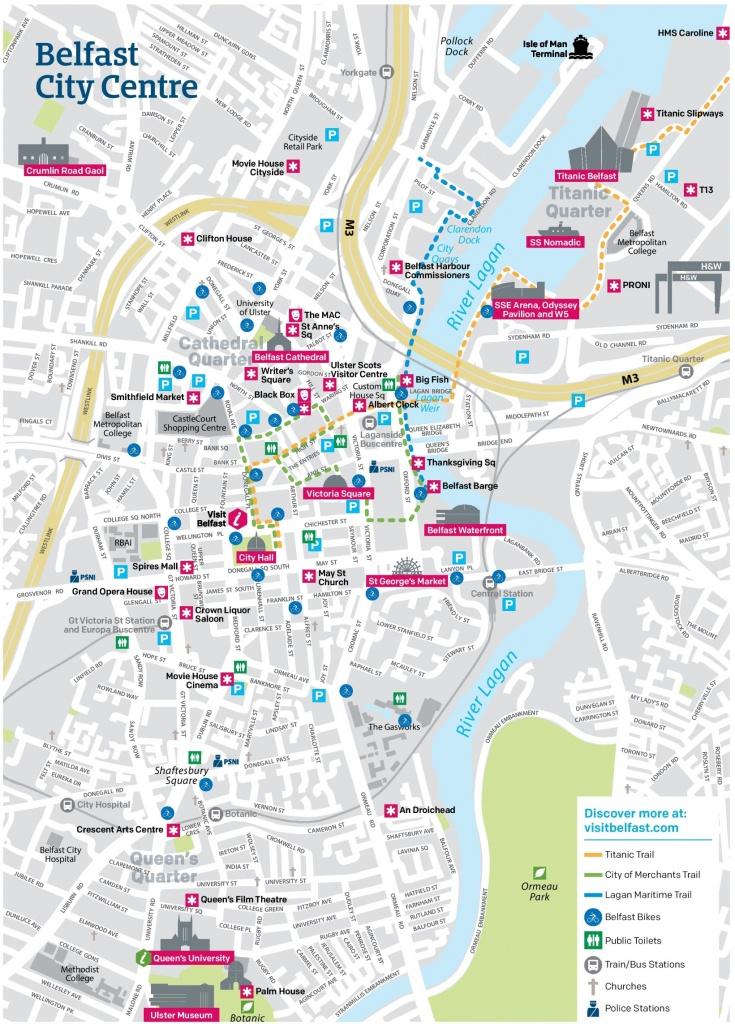 Belfast City Center Map - Belfast City Map Printable