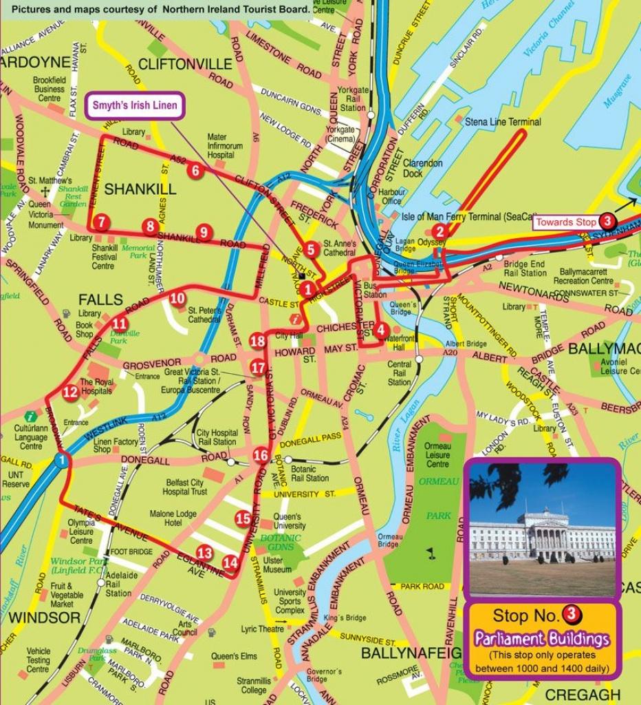 Belfast Map | 10 Ports & A Star | Belfast Map, Map, Belfast - Belfast City Map Printable