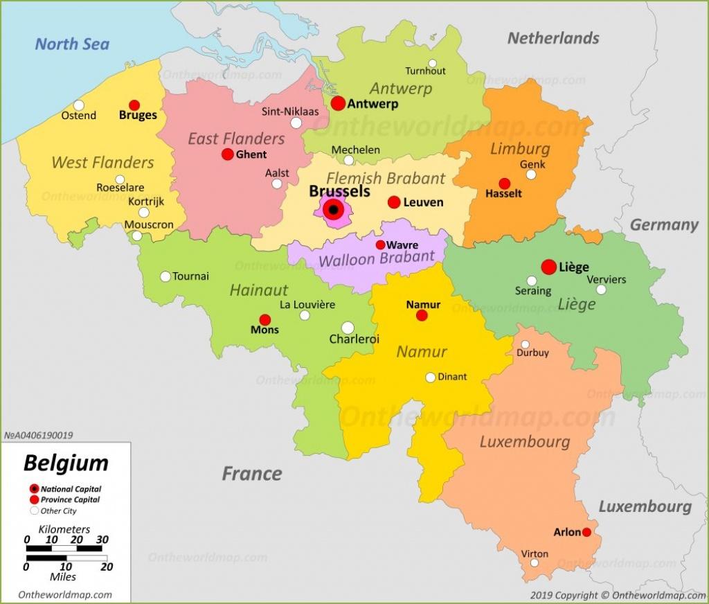 Belgium Maps | Maps Of Belgium - Printable Map Of Belgium