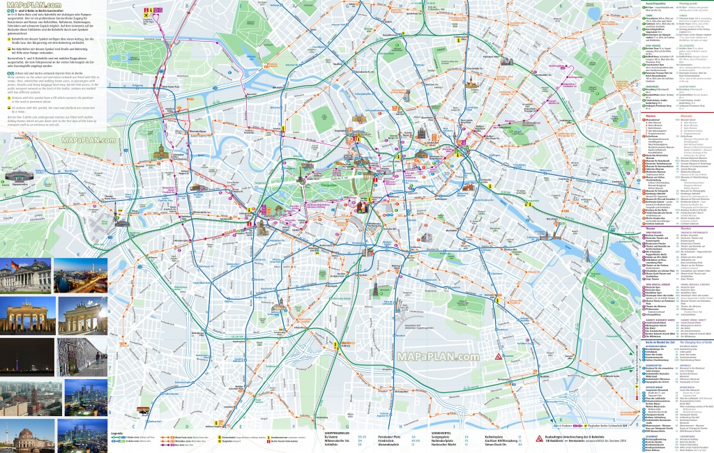 Berlin Maps - Top Tourist Attractions - Free, Printable City Street Map - Printable Map Of Berlin