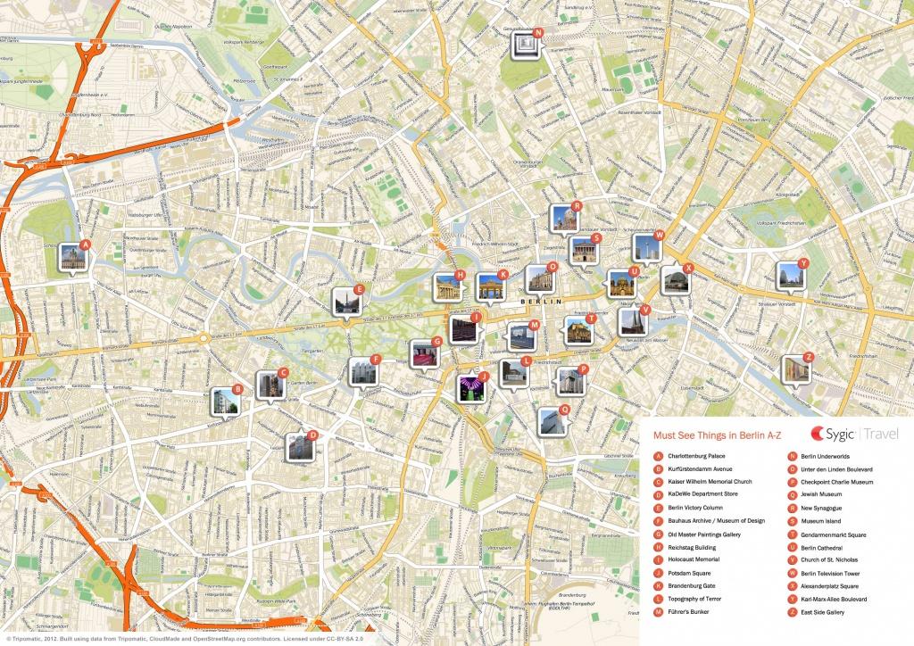 Berlin Printable Tourist Map | Sygic Travel - Printable Map Of Berlin