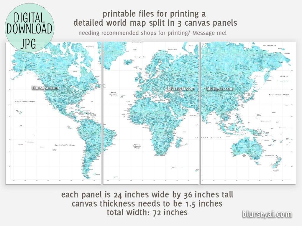 Best Crazy Large Map Print | Isabella - Large Printable Map